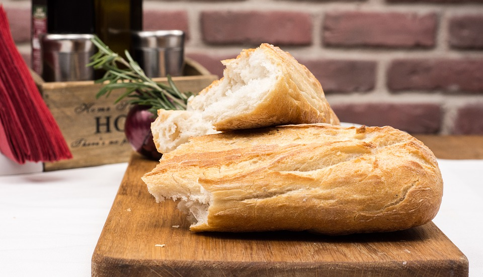 Crusty french baguette | The Flourishing Pantry